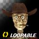Funny Skeleton - Dancing Cowboy - II - Transparent Loop - VideoHive Item for Sale