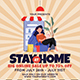 Stay at Home Online Sale Flyer Instagram Set Template
