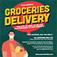 Groceries Delivery Flyer Instagram Set Template