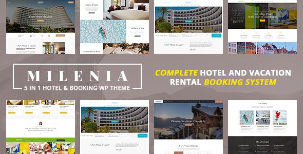 Download Milenia – Hotel & Booking WordPress Theme Free Nulled
