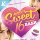 Sweet 16 Party Flyer Templates