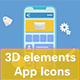 3D Elements App Icons - VideoHive Item for Sale