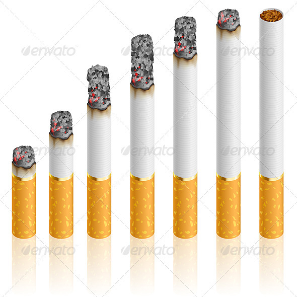 Set of Cigarettes - Man-made Objects Objects