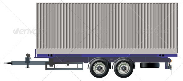 Container Trailer - Man-made Objects Objects