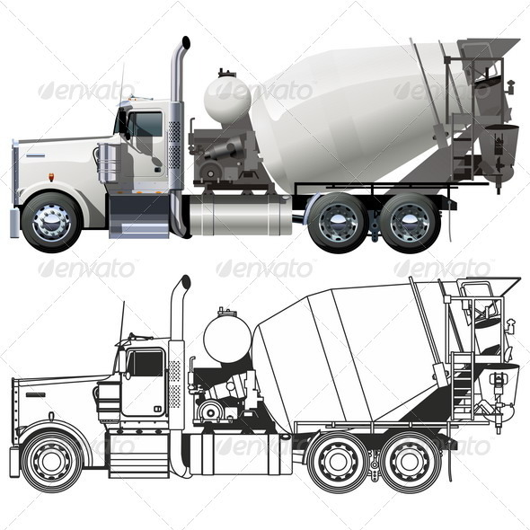 Concrete Mixer Truck - Man-made Objects Objects