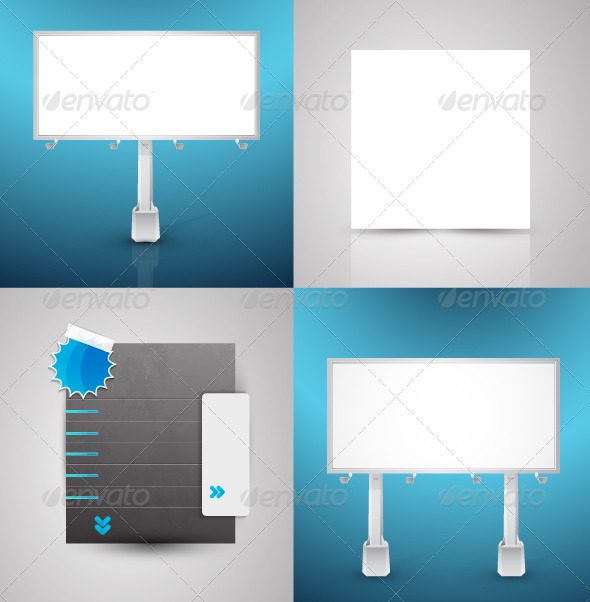 Vector Promotion Surfaces - Man-made Objects Objects