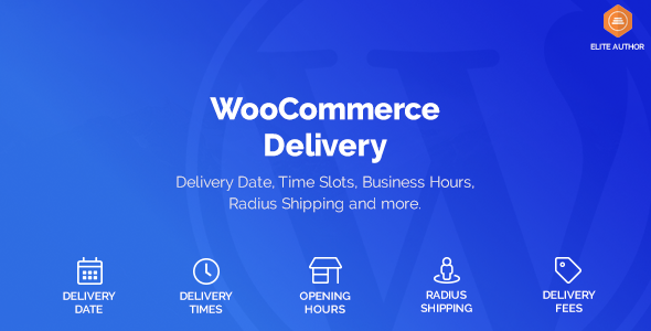 WooCommerce Delivery —Delivery Date & Time Slots