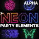 Neon Party Elements | Motion Graphics Pack - VideoHive Item for Sale
