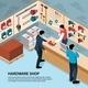 Hardware Shop Illustration