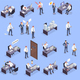 Problem Situations At Work Isometric Icon Set