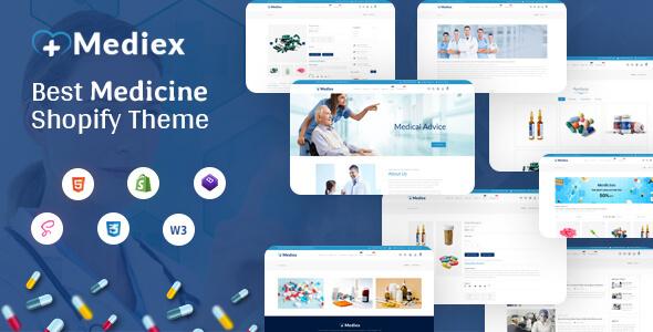 Mediex - Corona Medical Shop Shopify Theme