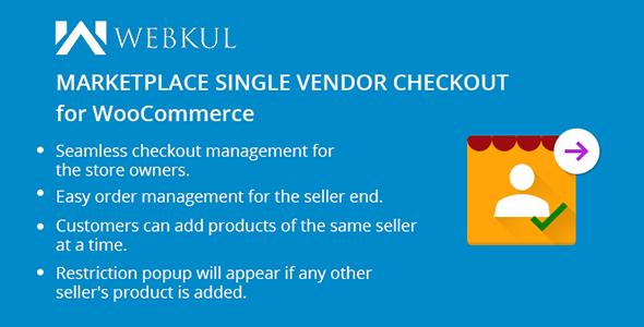 WooCommerce Marketplace Single Seller Checkout