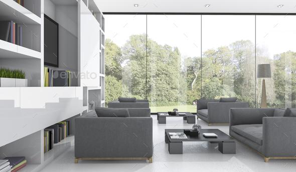 3d Rendering Nice Sofa In Living Room, Nice Living Room