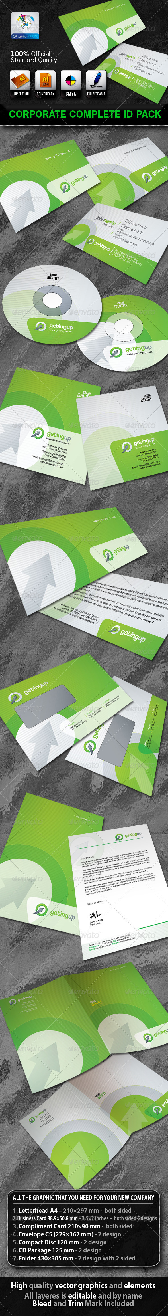 GettingUp Business Corporate ID Pack+Logo - Stationery Print Templates