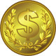 Vector Gold Money Dollar Coin - GraphicRiver Item for Sale