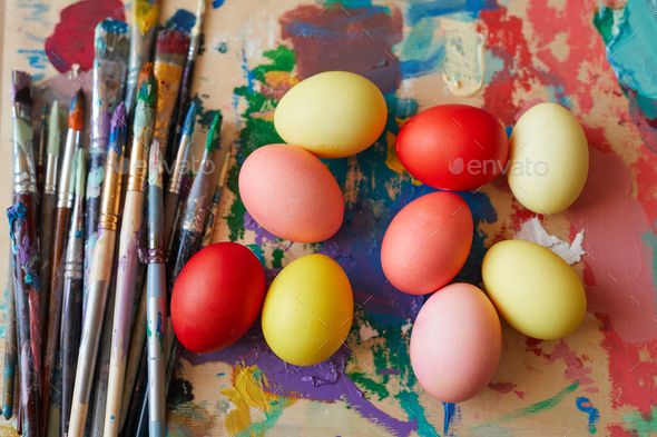 Decorated Easter eggs - Stock Photo - Images