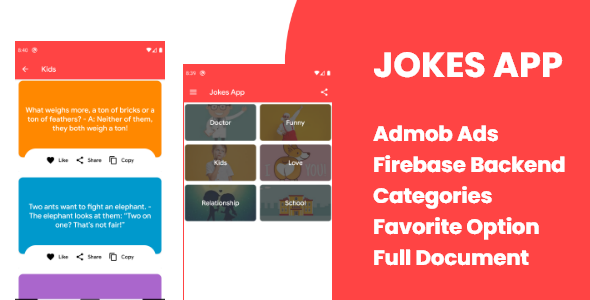 Jokes App with Admob and Firebase Backend