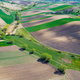 Geometric Farm Fields Shapes. Cultivated Countryside Scenic Landscape. Aerial Drone View - PhotoDune Item for Sale