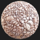 Cobble stone PBR materials Texture Scan data