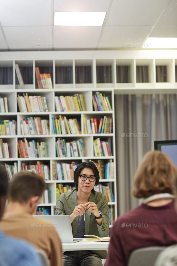 Business meeting in the library - Stock Photo - Images