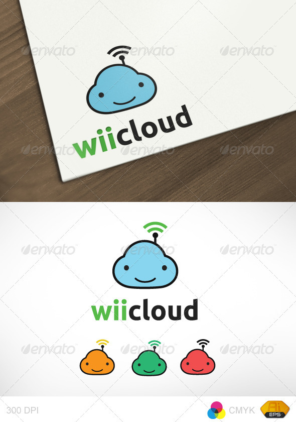 Wiicloud Logo - Vector Abstract