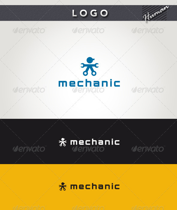 Mechanic Logo - Humans Logo Templates