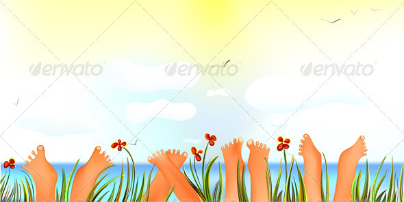 Cheerful Summer Day with Toes up - Seasons Nature