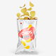Opened Glossy Snack Package Mockup - Front View
