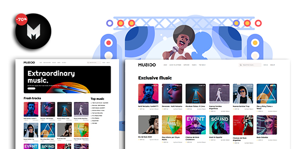 Download MUSICO – Premium Music Download System with Website Free Nulled