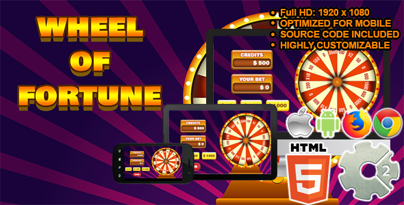 Wheel of Fortune - ( Casino Game   HTML5 + CAPX )