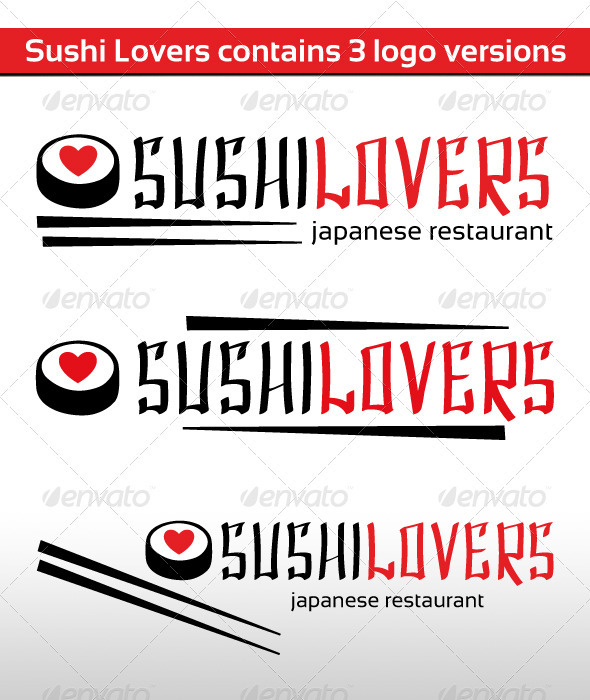 Sushi Lovers Logo - Food Logo Templates