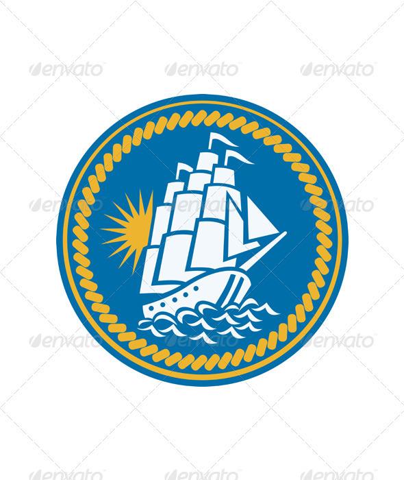 Sailing Tall Ship Galleon Retro - Travel Conceptual