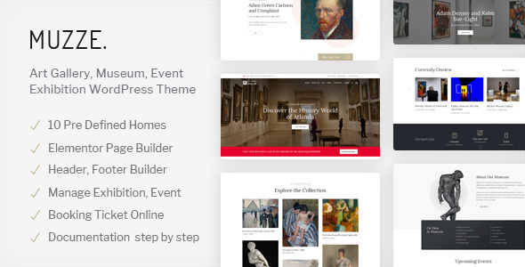 Muzze - Museum Art Gallery Exhibition WordPress Theme