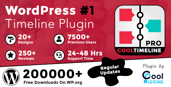 Cool Timeline Pro - WordPress Timeline Plugin Nulled