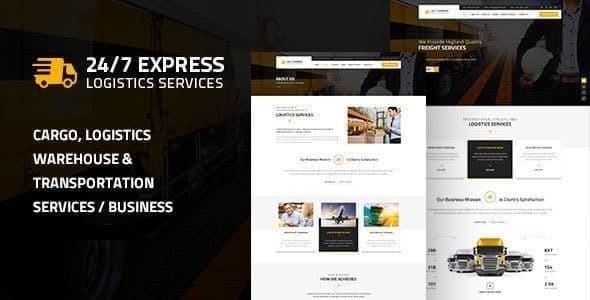 Excellent Express Logistics | Cargo WordPress