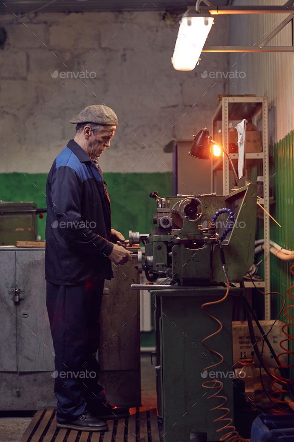 Man busy in the plant - Stock Photo - Images