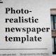 Photorealistic Modern Newspaper template - VideoHive Item for Sale