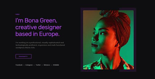 Awilo - Creative Portfolio Template