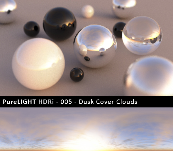 PureLIGHT HDRi 005 - Dusk Cover Clouds - 3DOcean Item for Sale