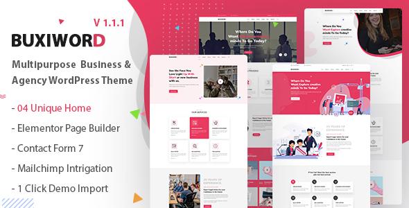 Buxiword - Digital Agency WordPress Theme