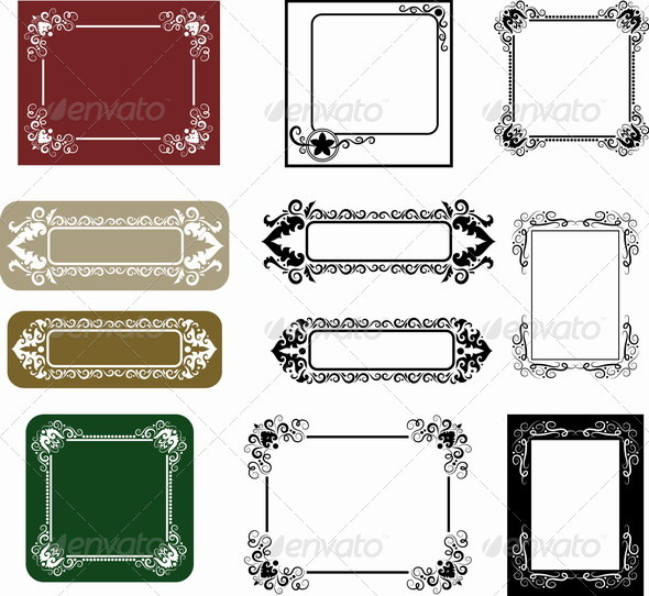 Label Frame Ornaments - Borders Decorative