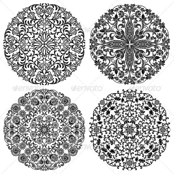 Floral Patterns Set - Decorative Symbols Decorative