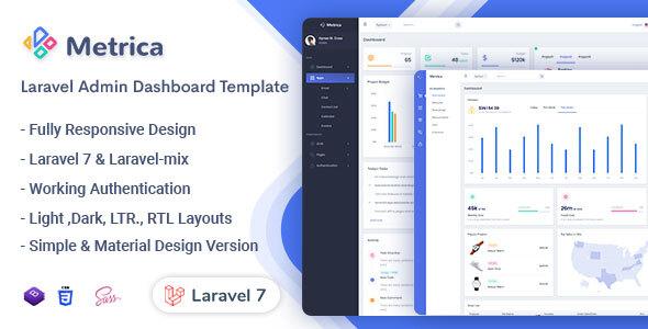 Exceptional Metrica - Laravel Admin & Dashboard Template