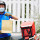 Cheerful courier delivering groceries - PhotoDune Item for Sale