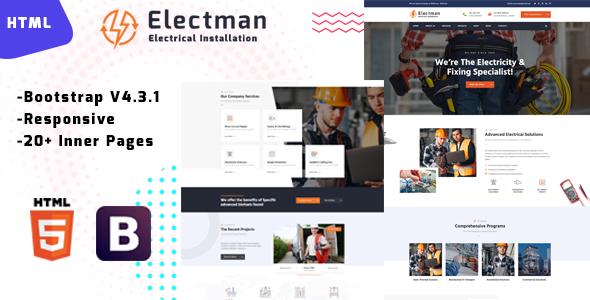 Electman – Electricity Repair HTML Template