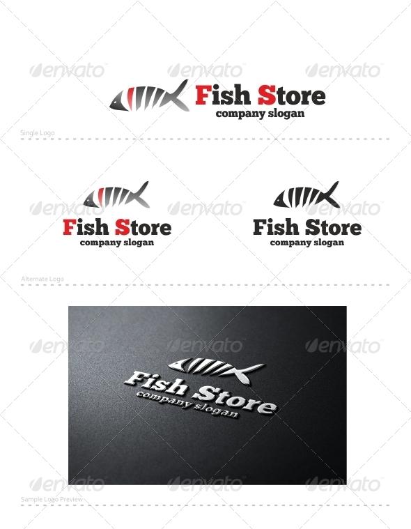Fish Store - Animals Logo Templates