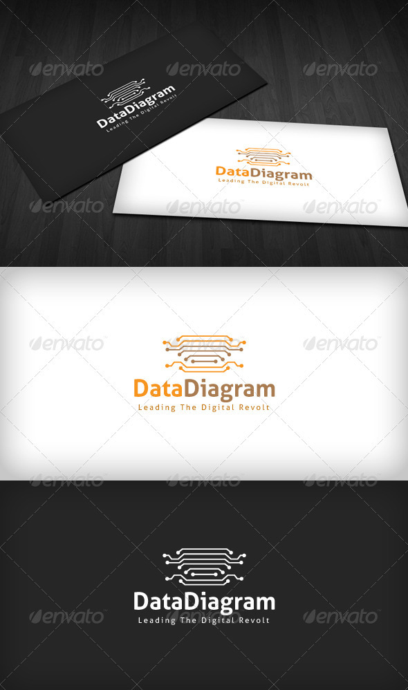 Data Diagram Logo - Vector Abstract