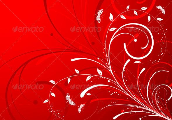 Flower Background - Flourishes / Swirls Decorative