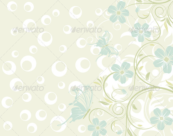 Flower texture - Flourishes / Swirls Decorative