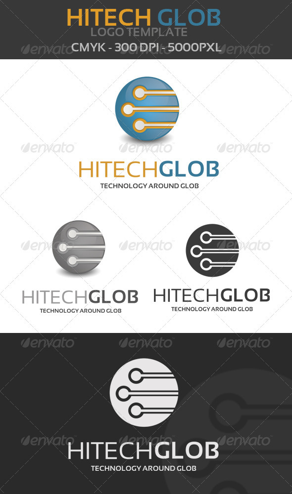 Hitech Globe Logo template - Objects Logo Templates